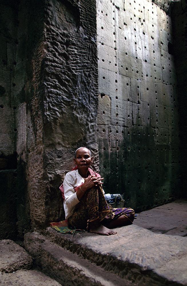Angkor Wat – Guardia╠â de Templo